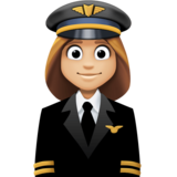 Woman Pilot: Medium-Light Skin Tone on Facebook 3.0