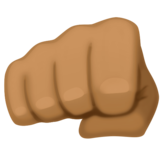 Oncoming Fist: Medium-Dark Skin Tone on Facebook 3.0