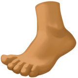 Foot: Medium-Dark Skin Tone on Facebook 3.0