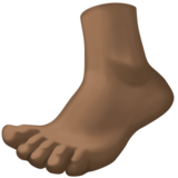 Foot: Dark Skin Tone on Facebook 3.0