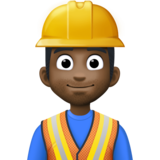 Man Construction Worker: Dark Skin Tone on Facebook 3.0