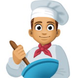 Man Cook: Medium Skin Tone on Facebook 3.0