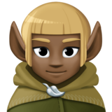 Man Elf: Dark Skin Tone on Facebook 3.0