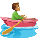 Man Rowing Boat: Medium Skin Tone on Facebook 3.0