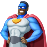 Man Superhero: Dark Skin Tone on Facebook 3.0