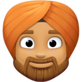 Man Wearing Turban: Medium Skin Tone on Facebook 3.0