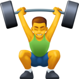 Man Lifting Weights on Facebook 3.0