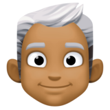 Man: Medium-Dark Skin Tone, White Hair on Facebook 3.0