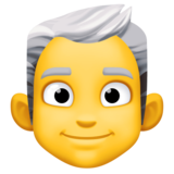 Man: White Hair on Facebook 3.0