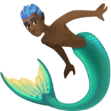 Merman: Dark Skin Tone on Facebook 3.0