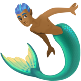 Merman: Medium-Dark Skin Tone on Facebook 3.0