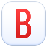 B Button (Blood Type) on Facebook 3.0