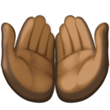 Palms Up Together: Dark Skin Tone on Facebook 3.0