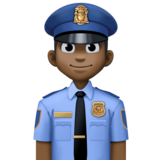 Police Officer: Dark Skin Tone on Facebook 3.0