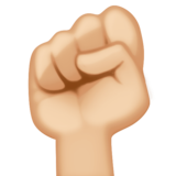 Raised Fist: Medium-Light Skin Tone on Facebook 3.0