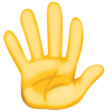 Hand with Fingers Splayed on Facebook 3.0