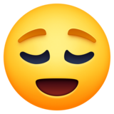 Relieved Face on Facebook 3.0