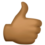 Thumbs Up: Medium-Dark Skin Tone on Facebook 3.0