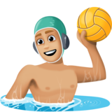 Person Playing Water Polo: Medium-Light Skin Tone on Facebook 3.0