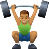 Person Lifting Weights: Medium Skin Tone on Facebook 3.0