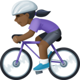 Woman Biking: Dark Skin Tone on Facebook 3.0
