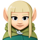 Woman Elf: Light Skin Tone on Facebook 3.0