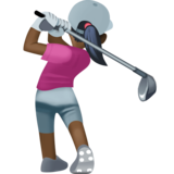 Woman Golfing: Dark Skin Tone on Facebook 3.0