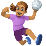 Woman Playing Handball: Medium Skin Tone on Facebook 3.0