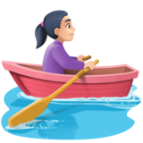 Woman Rowing Boat: Light Skin Tone on Facebook 3.0