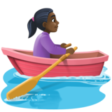 Woman Rowing Boat: Dark Skin Tone on Facebook 3.0