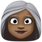 Woman: Dark Skin Tone, White Hair on Facebook 3.0