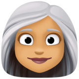 Woman: Medium Skin Tone, White Hair on Facebook 3.0
