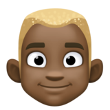 Man: Dark Skin Tone, Blond Hair on Facebook 3.1