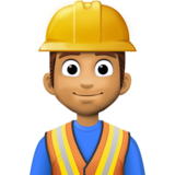 Construction Worker: Medium Skin Tone on Facebook 3.1