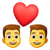 Couple with Heart: Man, Man on Facebook 3.1
