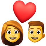 Couple With Heart: Woman, Man on Facebook 3.1