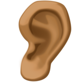 Ear: Medium-Dark Skin Tone on Facebook 3.1