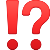 Exclamation Question Mark on Facebook 3.1