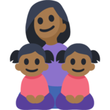 Family - Woman: Medium-Dark Skin Tone, Girl: Medium-Dark Skin Tone, Girl: Medium-Dark Skin Tone on Facebook 3.1