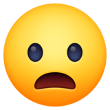 Frowning Face With Open Mouth on Facebook 3.1