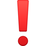 Exclamation Mark on Facebook 3.1