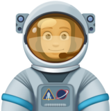 Man Astronaut: Medium-Light Skin Tone on Facebook 3.1