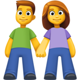 Woman and Man Holding Hands on Facebook 3.1