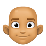 Man: Medium Skin Tone, Bald on Facebook 3.1