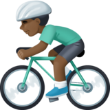 Man Biking: Dark Skin Tone on Facebook 3.1