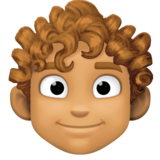 Man: Medium Skin Tone, Curly Hair on Facebook 3.1