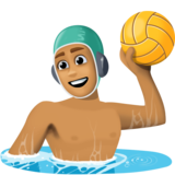 Man Playing Water Polo: Medium Skin Tone on Facebook 3.1