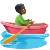 Man Rowing Boat: Dark Skin Tone on Facebook 3.1