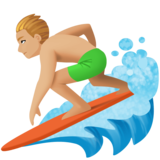Man Surfing: Medium-Light Skin Tone on Facebook 3.1