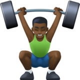 Man Lifting Weights: Dark Skin Tone on Facebook 3.1